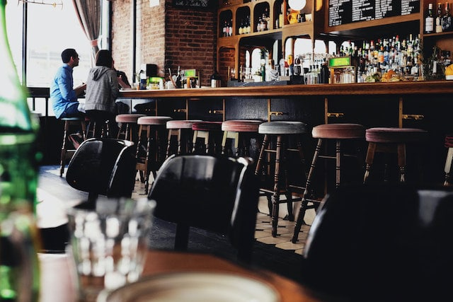 Stock photo of a bar.