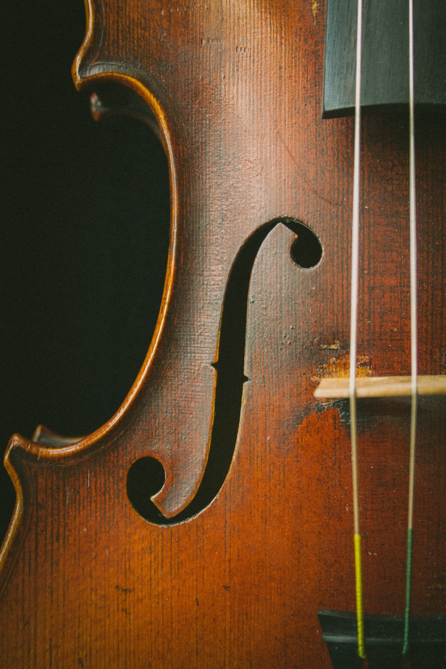 Stock photo of a violin.